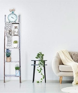 BarnwoodUSA Rustic Farmhouse Blanket Ladder Our 5 Ft Ladder Can Be Mounted Horizontally Or Vertically And Is Crafted From 100 Recycled And Reclaimed Wood No Assembly Required 0 5 300x360