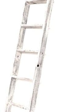 BarnwoodUSA Rustic Farmhouse Blanket Ladder Our 5 Ft Ladder Can Be Mounted Horizontally Or Vertically And Is Crafted From 100 Recycled And Reclaimed Wood No Assembly Required White 0 214x360