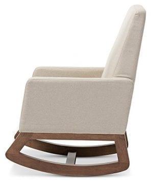 Baxton Studio Yashiya Mid Century Retro Modern Fabric Upholstered Rocking Chair Light Beige 0 1 300x360