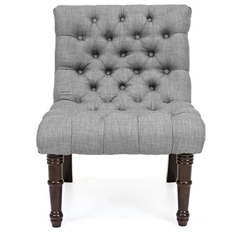 Wondrous Best Choice Products Living Room Upholstered Linen Casual Tufted Accent Chair W Wood Legs Gray Ibusinesslaw Wood Chair Design Ideas Ibusinesslaworg
