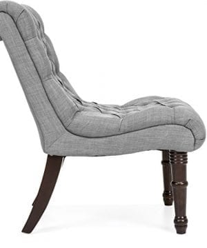 Best Choice Products Living Room Upholstered Linen Casual Tufted Accent Chair WWood Legs Gray 0 1 300x360