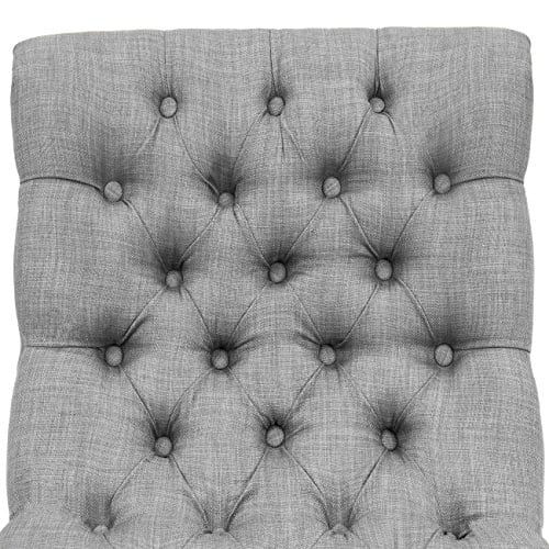 Best Choice Products Living Room Upholstered Linen Casual Tufted Accent Chair WWood Legs Gray 0 3