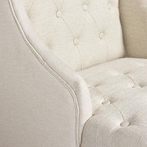 Swell Best Choice Products Fabric Tufted French Style Tall Wingback Accent Chair Home Decor W Extra Wide Seat Wooden Legs Beige Bralicious Painted Fabric Chair Ideas Braliciousco