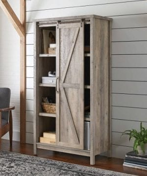 Better Homes And Gardens Modern Farmhouse Storage Cabinet Rustic Gray Finish By Dreamsales 0 0 300x360