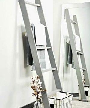 BrandtWorks 204L Weathered Gray 72 Decorative Blanket Ladder 0 0 300x360