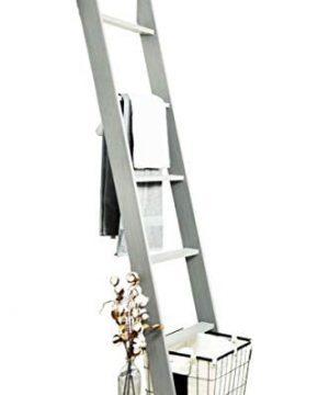BrandtWorks 204L Weathered Gray 72 Decorative Blanket Ladder 0 300x360