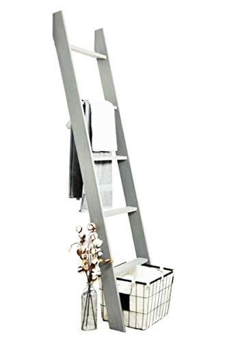 BrandtWorks 204L Weathered Gray 72 Decorative Blanket Ladder 0