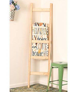 BrandtWorks Brown Pine Blanket Ladder 72 X 18 0 300x360