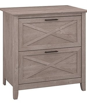 Bush Furniture Key West 2 Drawer Lateral File Cabinet In Washed Gray 0 300x360