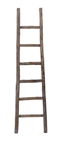Cheungs Hand Crafted Design Wooden Decorative Ladder Brown 0 0