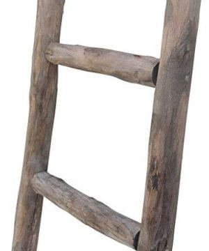 Cheungs Hand Crafted Design Wooden Decorative Ladder Brown 0 1 300x360