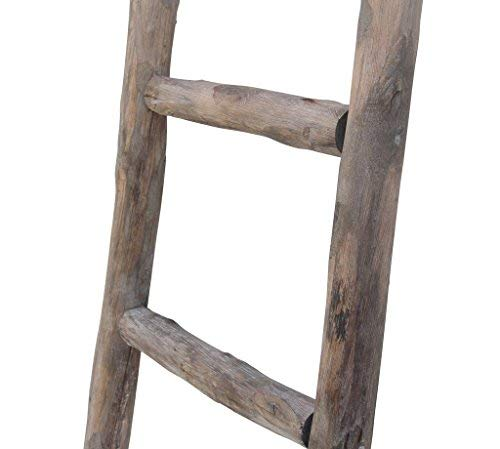 Cheungs Hand Crafted Design Wooden Decorative Ladder Brown 0 1