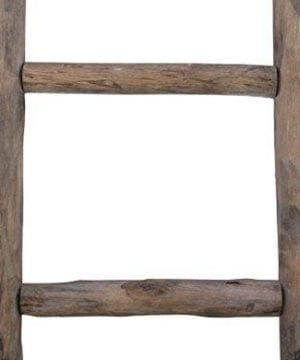 Cheungs Hand Crafted Design Wooden Decorative Ladder Brown 0 3 300x360