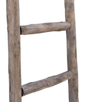 Cheungs Hand Crafted Design Wooden Decorative Ladder Brown 0 4 300x360
