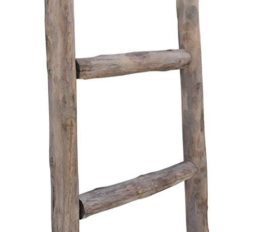 Cheungs Hand Crafted Design Wooden Decorative Ladder Brown 0 4