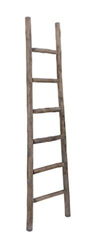 Cheungs Hand Crafted Design Wooden Decorative Ladder Brown 0