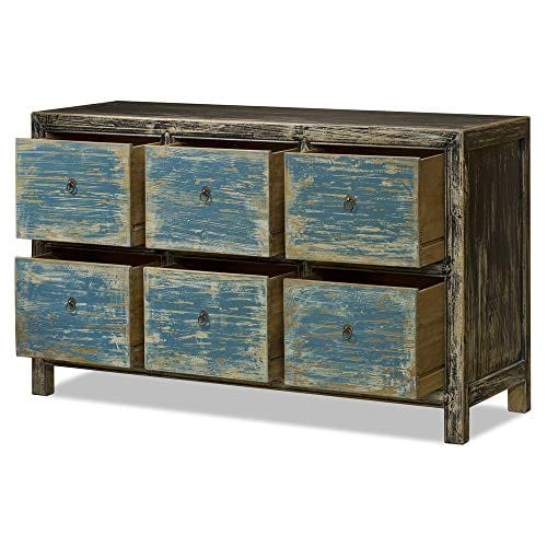 ChinaFurnitureOnline Elmwood 6 Drawer Ming File Cabinet 0 0
