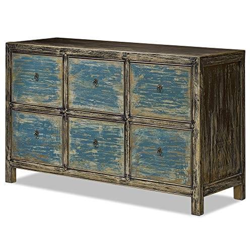 ChinaFurnitureOnline Elmwood 6 Drawer Ming File Cabinet 0 1