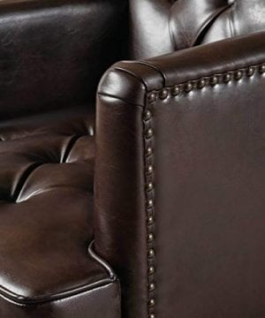 Christopher Knight Home Tufted Club Chair Decorative Accent Chair With Studded Details Brown 0 1 300x360