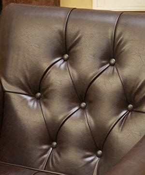 Christopher Knight Home Tufted Club Chair Decorative Accent Chair With Studded Details Brown 0 3 300x360