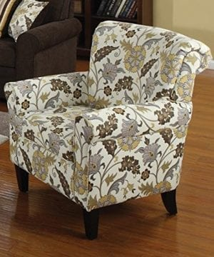 Coaster Home Furnishings Flower Pattern Accent Chair Cream And Cappuccino 0 0 300x360