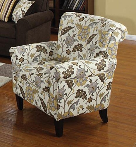 Coaster Home Furnishings Flower Pattern Accent Chair Cream And Cappuccino 0 0