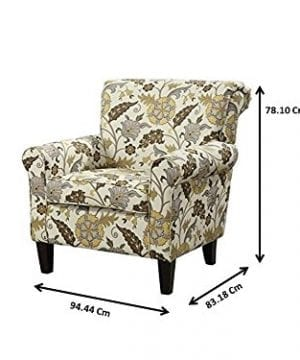 Coaster Home Furnishings Flower Pattern Accent Chair Cream And Cappuccino 0 1 300x360
