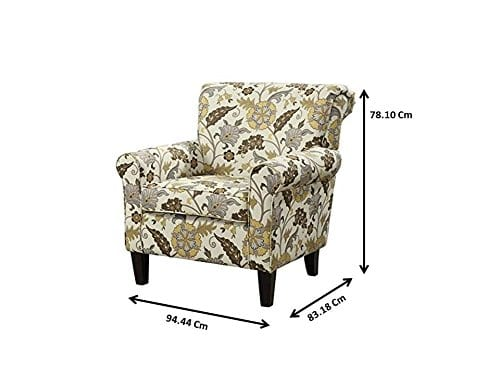 Coaster Home Furnishings Flower Pattern Accent Chair Cream And Cappuccino 0 1