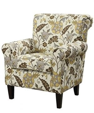 Coaster Home Furnishings Flower Pattern Accent Chair Cream And Cappuccino 0 300x360
