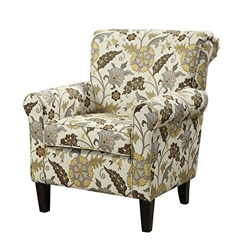 Coaster Home Furnishings Flower Pattern Accent Chair Cream And Cappuccino 0