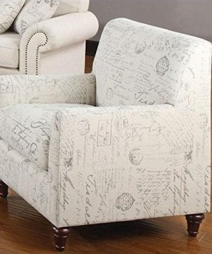 Coaster Home Furnishings Norah Arm Chair With French Script Pattern Oatmeal 0 300x360
