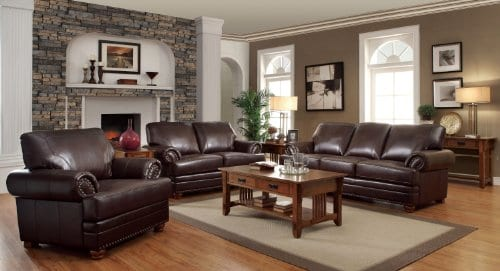 Colton Chair With Comfortable Cushions Brown 0 0