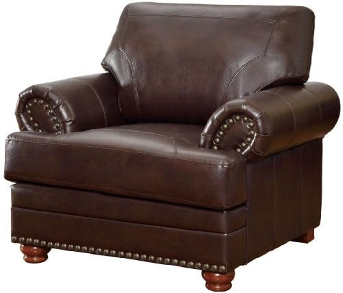 Colton Chair With Comfortable Cushions Brown 0