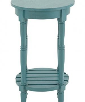 Deco 79 96223 Wood Round Accent Table 16 X 29 Teal 0 0 300x360