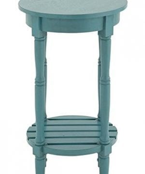 Deco 79 96223 Wood Round Accent Table 16 X 29 Teal 0 300x360