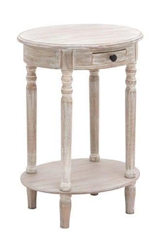 Deco 79 96290 Wood Oval Accent Table 27 X 20 Taupe 0 0