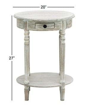 Deco 79 96290 Wood Oval Accent Table 27 X 20 Taupe 0 3 300x360