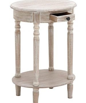 Deco 79 96290 Wood Oval Accent Table 27 X 20 Taupe 0 300x360
