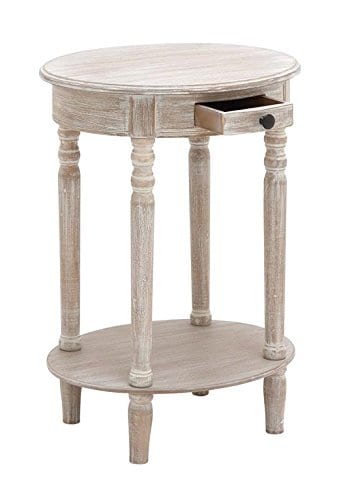 Deco 79 96290 Wood Oval Accent Table 27 X 20 Taupe 0