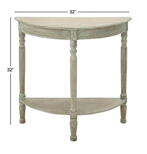 Deco 79 96329 Wood 12 Round Console Table 32 X 32 Taupe 0 0