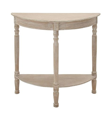Deco 79 96329 Wood 12 Round Console Table 32 X 32 Taupe 0