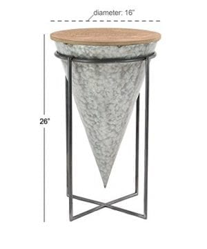 Deco 79 98746 98746 Accent Table Gray Brown 0 1 300x360