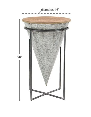 Deco 79 98746 98746 Accent Table Gray Brown 0 1
