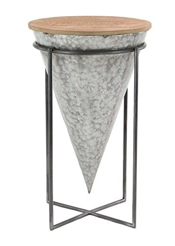 Deco 79 98746 98746 Accent Table Gray Brown 0