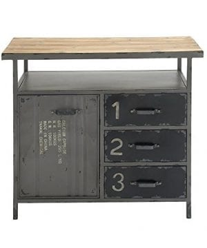 Deco 79 Industrial Repurposed Metal Utility Cabinet With Storage Wood Tabletop Industrial Furniture Storage Cabinet Wood Metal Cabinet 36 X 32 0 1 300x360