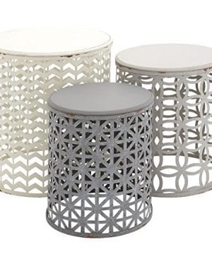 Deco 79 Metal Wood Accent Table 22 By 19 By 17 Inch Set Of 3 0 300x360
