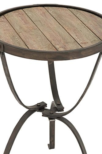 Deco 79 Metal Wood Side Table 27 By 18 Inch 0 0