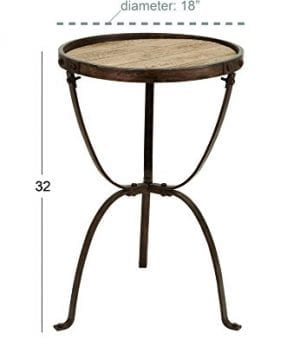 Deco 79 Metal Wood Side Table 27 By 18 Inch 0 1 300x360