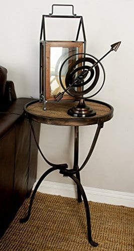 Deco 79 Metal Wood Side Table 27 By 18 Inch 0 2