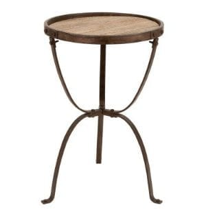 Deco 79 Metal Wood Side Table 27 By 18 Inch 0 300x312